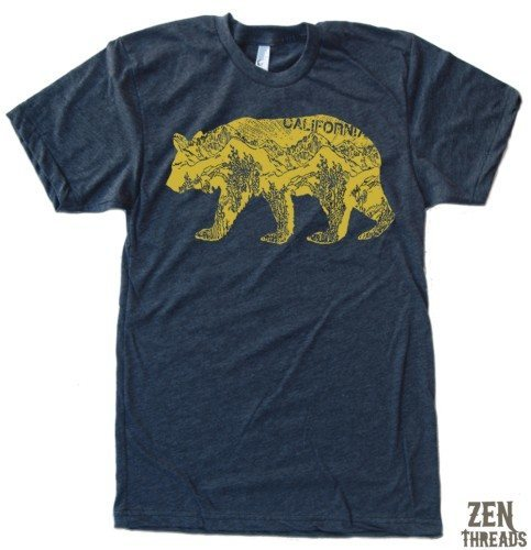 zen threads california bear COOL T-SHIRTS