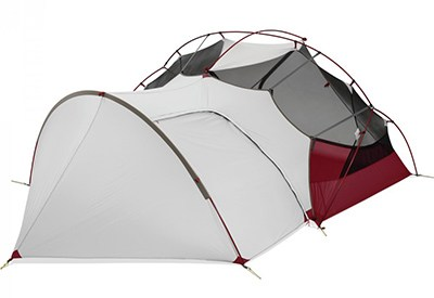 msr hubba hubba nx tent with gear shed