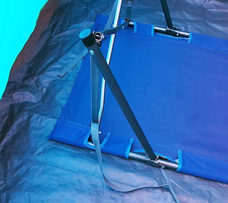 set up of rei camp folding cot