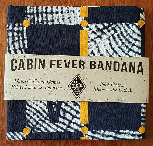 cabin fever bandana in the cairn box