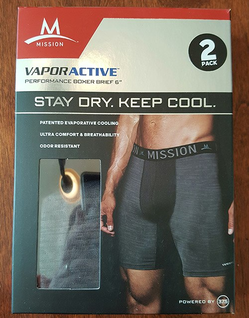 vaporactive underwear in the cairn box