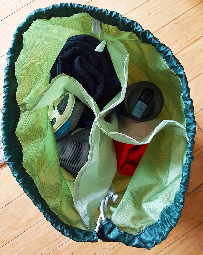 gobi gear segsac packed with gym clothes