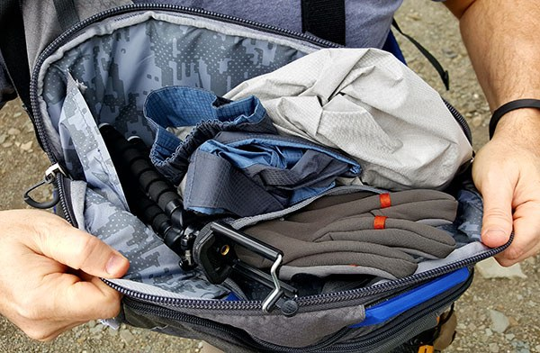 inner large pocket of the umpqua steamboat sling pack