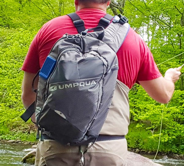 loaded steamboat sling pack